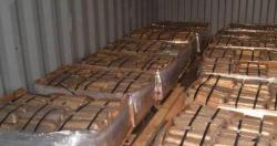 High grade copper ingots 99.99%