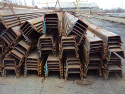Hot rolled steel sheet piles Larssen L4,5,5D, L7