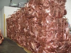 1000 MT of electrolytic copper cathodes grade A, ASTM B115/00