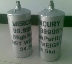 Silver and red metallic mercury for sale