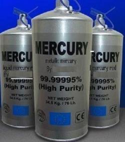 Silver Liquid Mercury 99.999% in 20' container needed