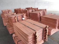 Copper cathodes from producer
