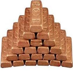 Copper Ingots, 99,7-99,9%, SGS, FOB or CIF