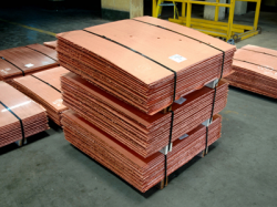 Copper cathodes supplies, 3,000t a month, all prices are CIF