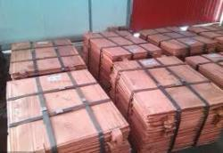 copper cathodes with purity 99.99%, 1000 – 6700 MT/month