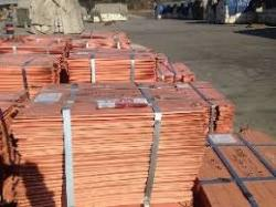 We sell copper cathode 99,9% grade A