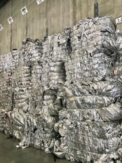 Bundles of aluminum foil 200,000 lbs a month
