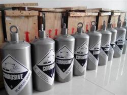 """Liquid Silver Mercury 99,9% 550 flasks per 20"""" container"""