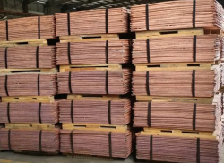 Copper cathodes MOOk, MOk, M1k, LME minus 6%, 2,000t/m min, FOB