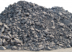 Chromite ore from mine supply