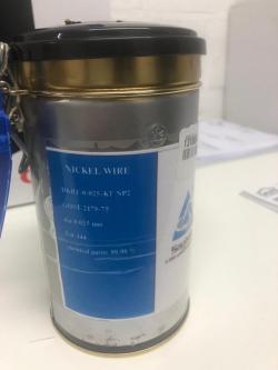 Nickel Wire 0.025mm 99,98% 1.4M Meter