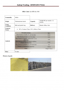 Sulfur available